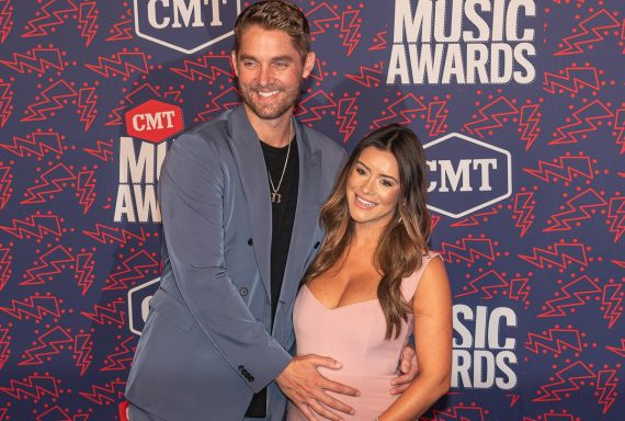 Brett Young and Wife; Photo by Andrew Wendowski