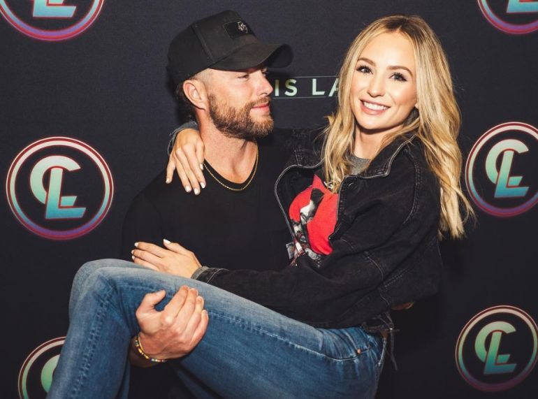 Chris Lane and Lauren Bushnell; Photo via Instagram