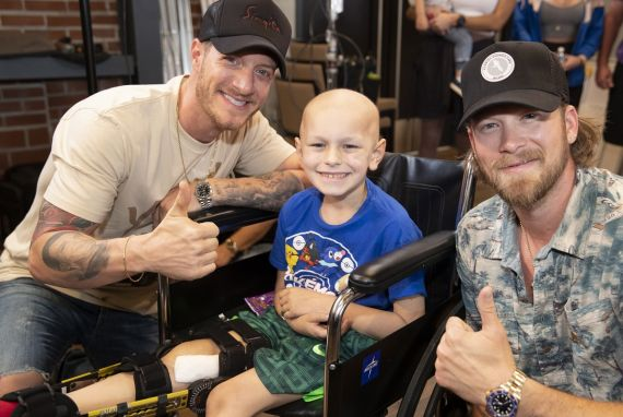Florida Georgia Line meets with St. Jude patient Jackson at St. Jude Children's Research Hospital, Saturday, June 15, 2019.