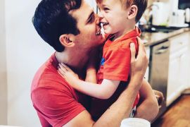 Granger Smith and son River; Photo via Facebook