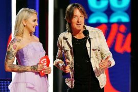 Julia Michaels and Keith Urban; Photo by Mike Coppola/Getty Images for CMT