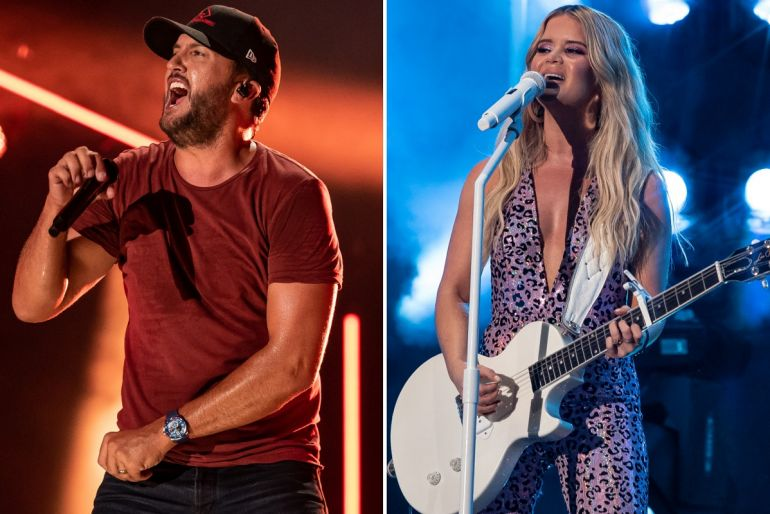 Luke Bryan, Maren Morris; Photos by Andrew Wendowski