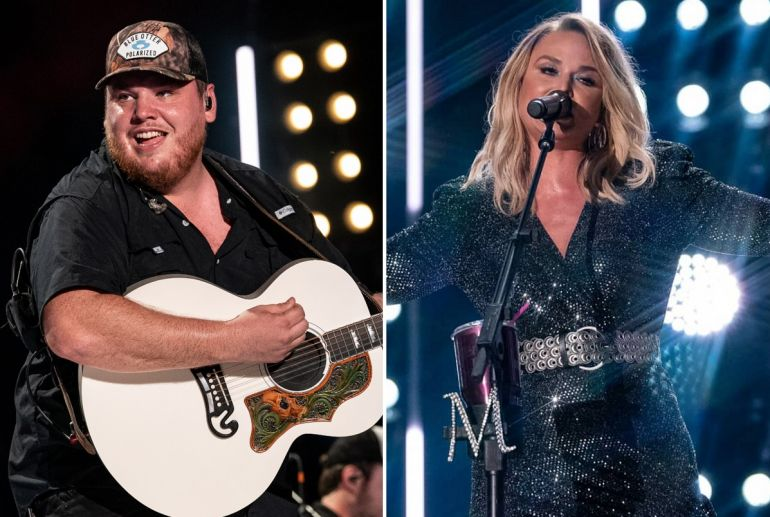 Luke Combs, Miranda Lambert; Photos by Andrew Wendowski