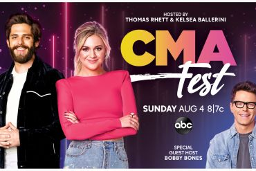 Thomas Rhett, Kelsea Ballerini, Bobby Bones; Photo Courtesy CMA-ABC