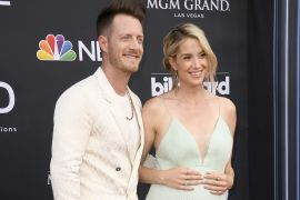 Tyler Hubbard and Wife, Hayley; Photo by Frazer Harrison/Getty Images