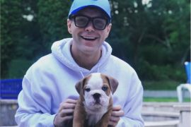 Bobby Bones and his puppy, Stanley; Photo via Instagram