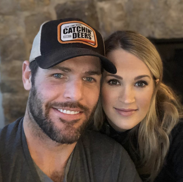 Carrie Underwood and Mike Fisher; Photo via Instagram