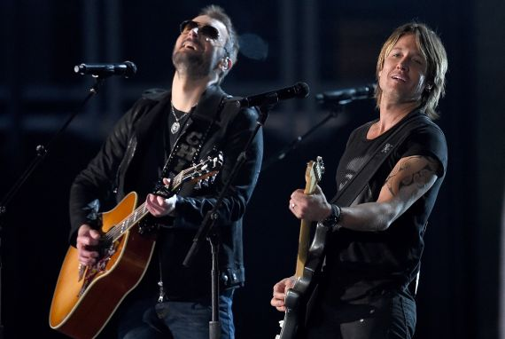 Eric Church and Keith Urban; Photo by Ethan Miller/Getty Images for dcp