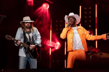 Lil Nas X, Billy Ray Cyrus; Photo by Andrew Wendowski