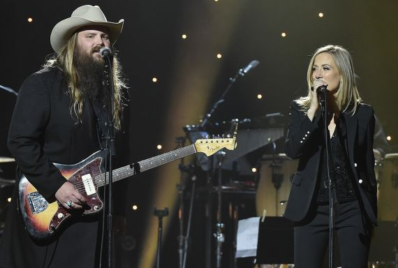 Chris Stapleton, Sheryl Crow; Photo by Theo Wargo/Getty Images for Blackbird