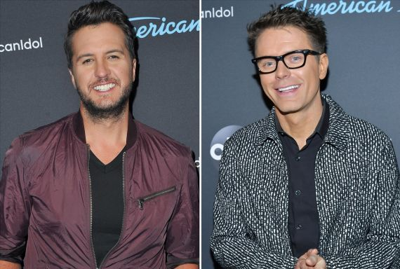 Luke Bryan; Photo by Allen Berezovsky/Getty Images, Bobby Bones; Photo by Amy Sussman/Getty Images