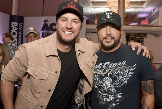 Luke Bryan, Jason Aldean; Photo by Frazer Harrison/Getty Images for ACM