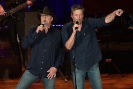 Trace Adkins and Blake Shelton; Photo by Jason Kempin/Getty Images