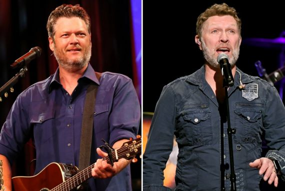 Blake Shelton; Photo by Terry Wyatt/Getty Images for Musicians On Call, Craig Morgan; Photo by Jason Kempin/Getty Images