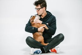 Bobby Bones and Stanley; Photo by Osprey Media