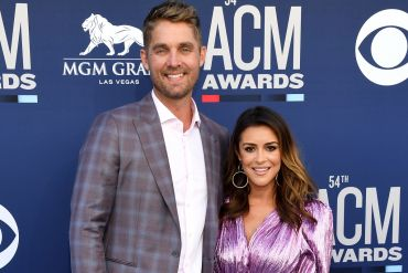 Brett Young and Taylor Mills Young; Photo by Ethan Miller/Getty Images