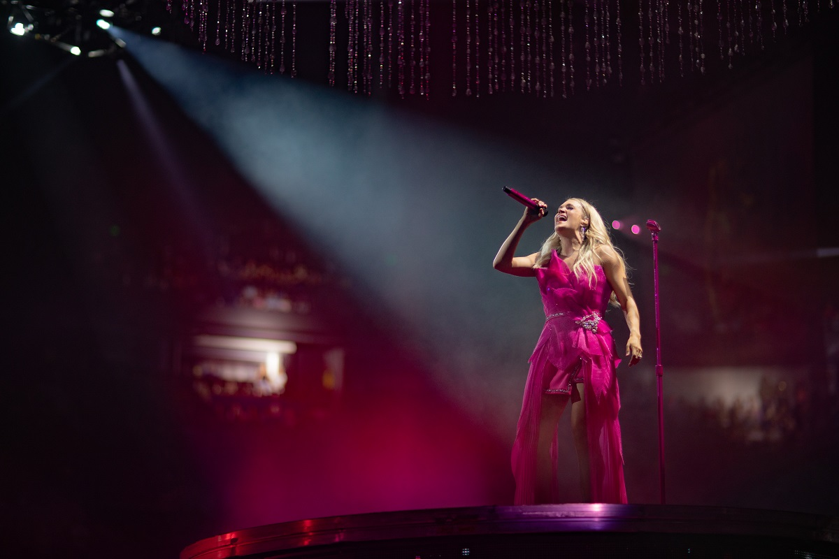 Carrie Underwood; Photo by Jeff Johnson