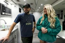 Jason Aldean, Brittany Aldean - Bus Tour; Photo via YouTube