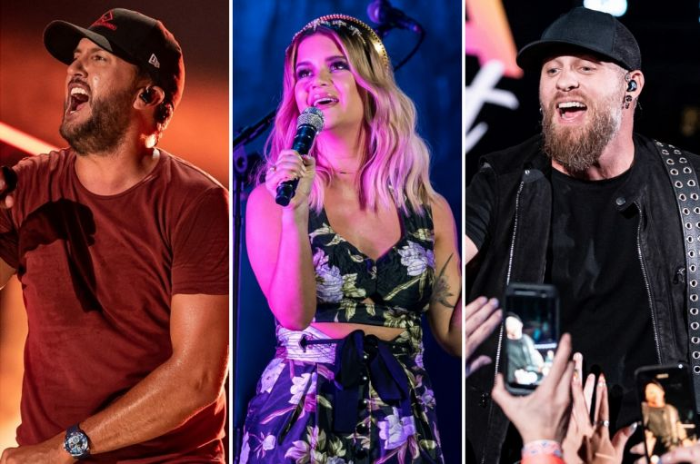 Luke Bryan, Maren Morris, Brantley Gilbert; Photos by Andrew Wendowski