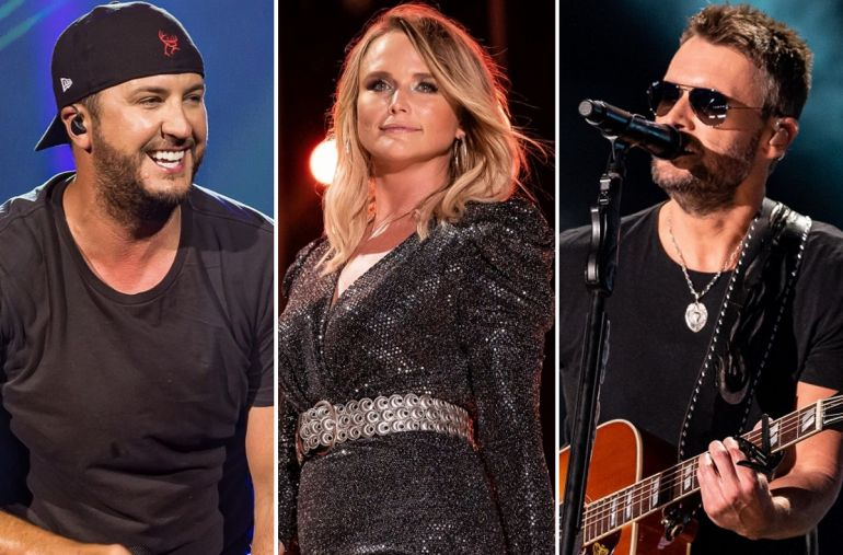 Luke Bryan, Miranda Lambert, Eric Church; Photos by Andrew Wendowski