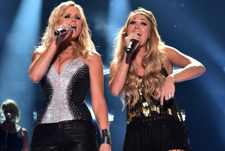 Miranda Lambert, Carrie Underwood; Photo by Larry Busacca/Getty Images