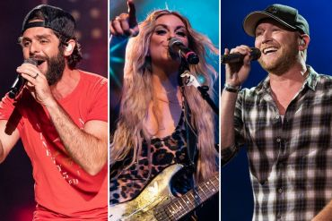 Thomas Rhett, Lindsay Ell, Cole Swindell; Photos by Andrew Wendowski