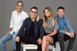 "'The Bobby Bones Show' - Bobby Bones, Amy Brown, ""Lunchbox"" Dan Chappell, and Eddie Garcia; Photo Courtesy Premiere Networks"