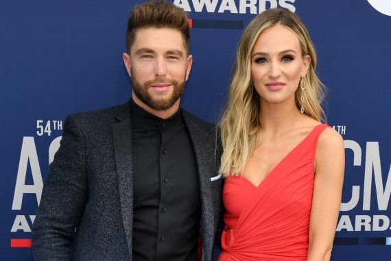 Chris Lane and Lauren Bushnell; Photo by Ethan Miller/Getty Images