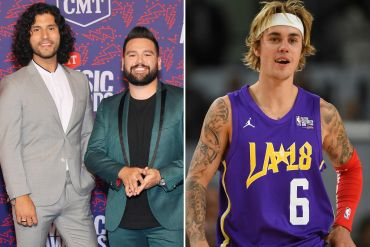 Dan + Shay; Photo by Mike Coppola/Getty Images for CMT, Justin Bieber; Photo by Jayne Kamin-Oncea/Getty Images
