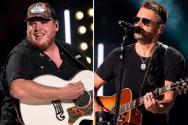 Luke Combs, Eric Church; Photos by Andrew Wendowski