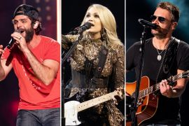 Thomas Rhett; Photo by Andrew Wendowski, Carrie Underwood; Photo by Jeff Johnson, Eric Church; Photo by Andrew Wendowski