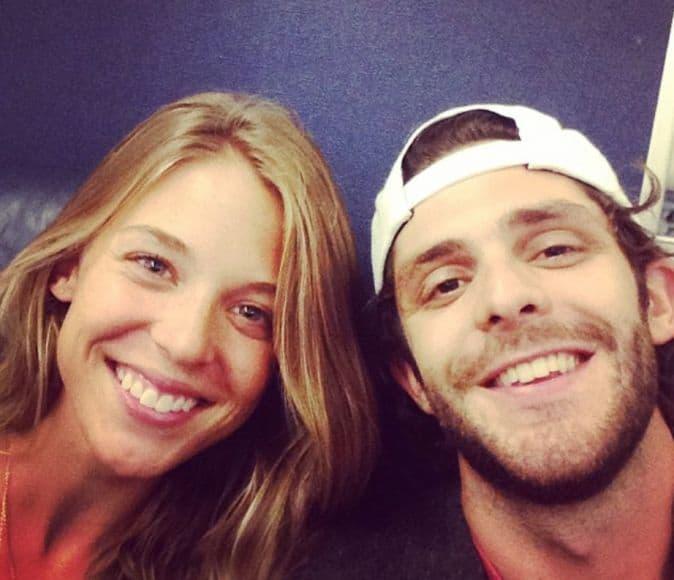 Thomas Rhett, Lauren Akins; Photo via Instagram