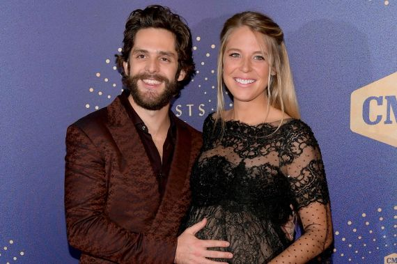 Thomas Rhett and Lauren Akins; Photo by Jason Kempin/Getty Images for CMT/Viacom