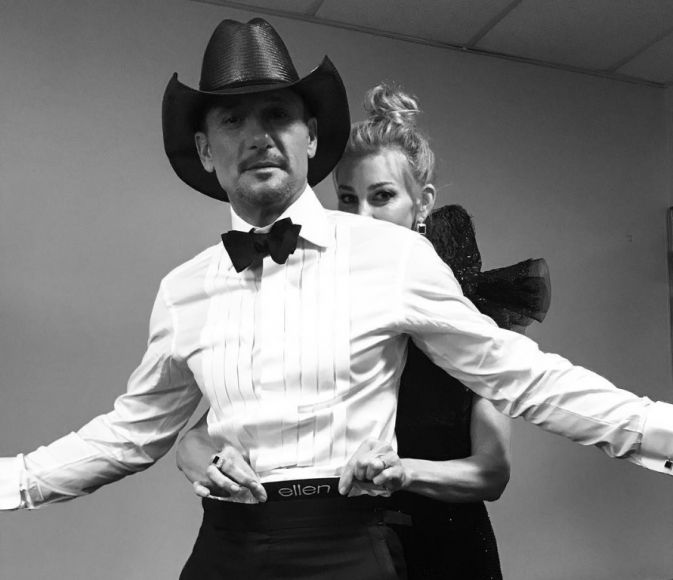 Tim McGraw and Faith Hill; Photo via Instagram