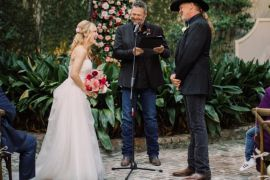 Trace Adkins, Victoria Pratt, Blake Shelton; Photo via Facebook