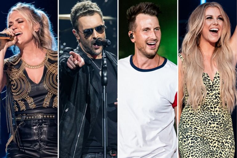 Carrie Underwood, Eric Church, Russell Dickerson, Lindsay Ell; Photos by Andrew Wendowski