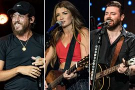 Chris Janson, Tenille Townes, Chris Young; Photos by Andrew Wendowski