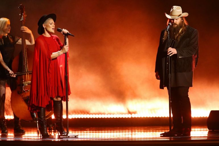 P!NK and Chris Stapleton; Photo by Terry Wyatt/Getty Images
