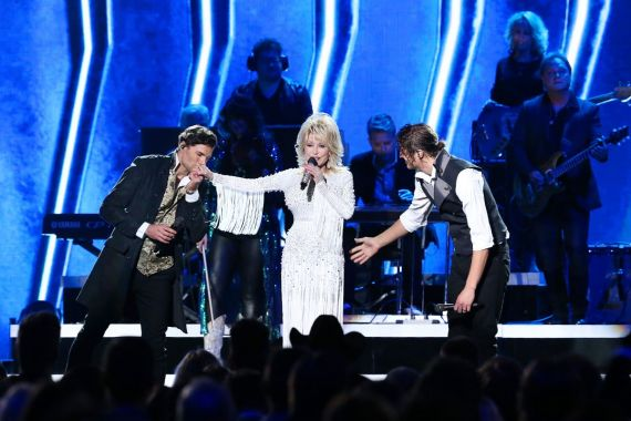 for KING & COUNTRY and Dolly Parton; Photo by Terry Wyatt/Getty Images