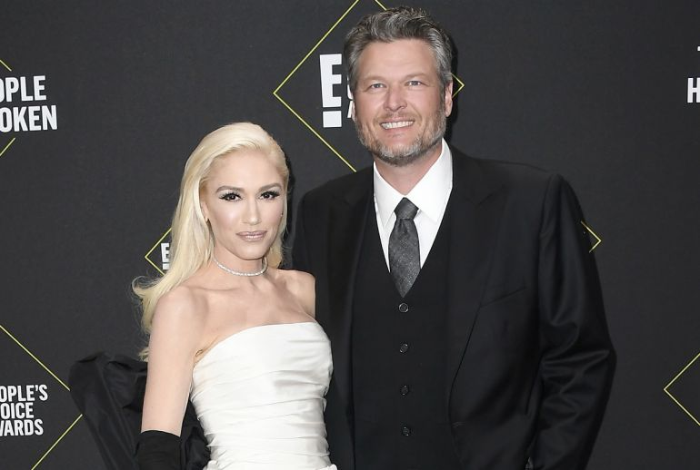Gwen Stefani and Blake Shelton; Photo by Frazer Harrison/Getty Images
