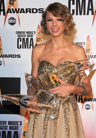 Taylor Swift; Photo by Frederick Breedon/Getty Images