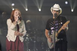 Addie Pratt with Brad Paisley; ABC/Mark Levine