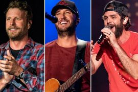Dierks Bentley, Luke Bryan, Thomas Rhett; Photos by Andrew Wendowski