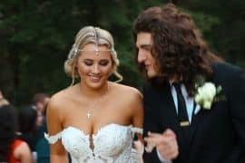 Gabby Barrett and Cade Foehner Wedding Video; Photo via YouTube