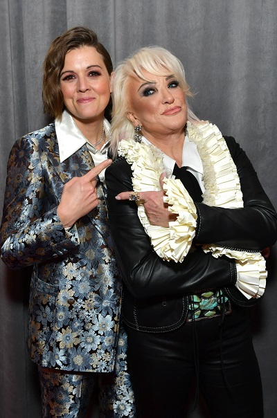 Brandi Carlile and Tanya Tucker; Photo by Emma McIntyre/Getty Images for The Recording Academy