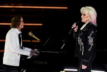 Brandi Carlile and Tanya Tucker; Photo by Kevin Winter/Getty Images for The Recording Academy