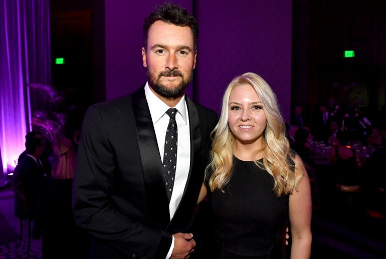 Eric Church and Katherine Blasingame; Photo by Jason Davis/Getty Images for T.J. Martell