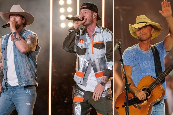 Florida Georgia Line; Photo by Andrew Wendowski, Kenny Chesney; Photo by Erika Goldring/Getty Images for CMT