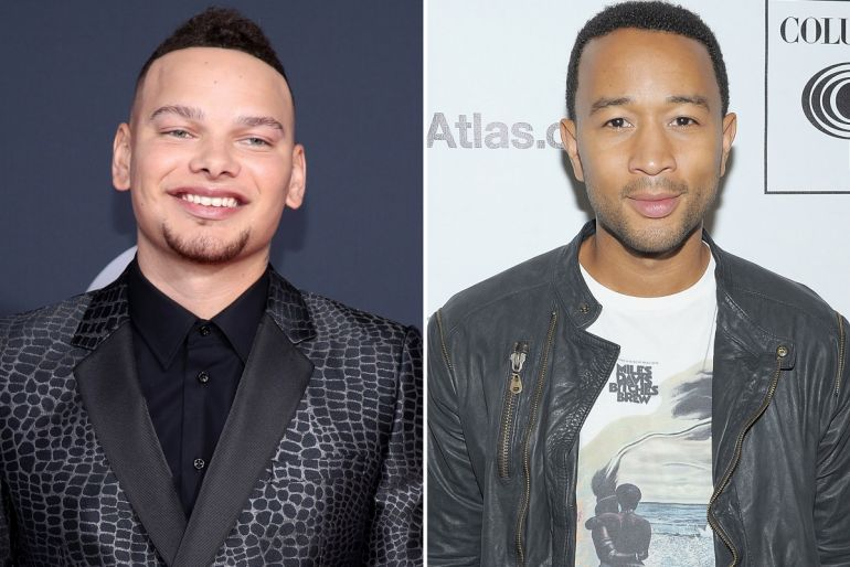 Kane Brown; Photo by Rich Fury/Getty Images, John Legend; Photo by Michael Loccisano/Getty Images
