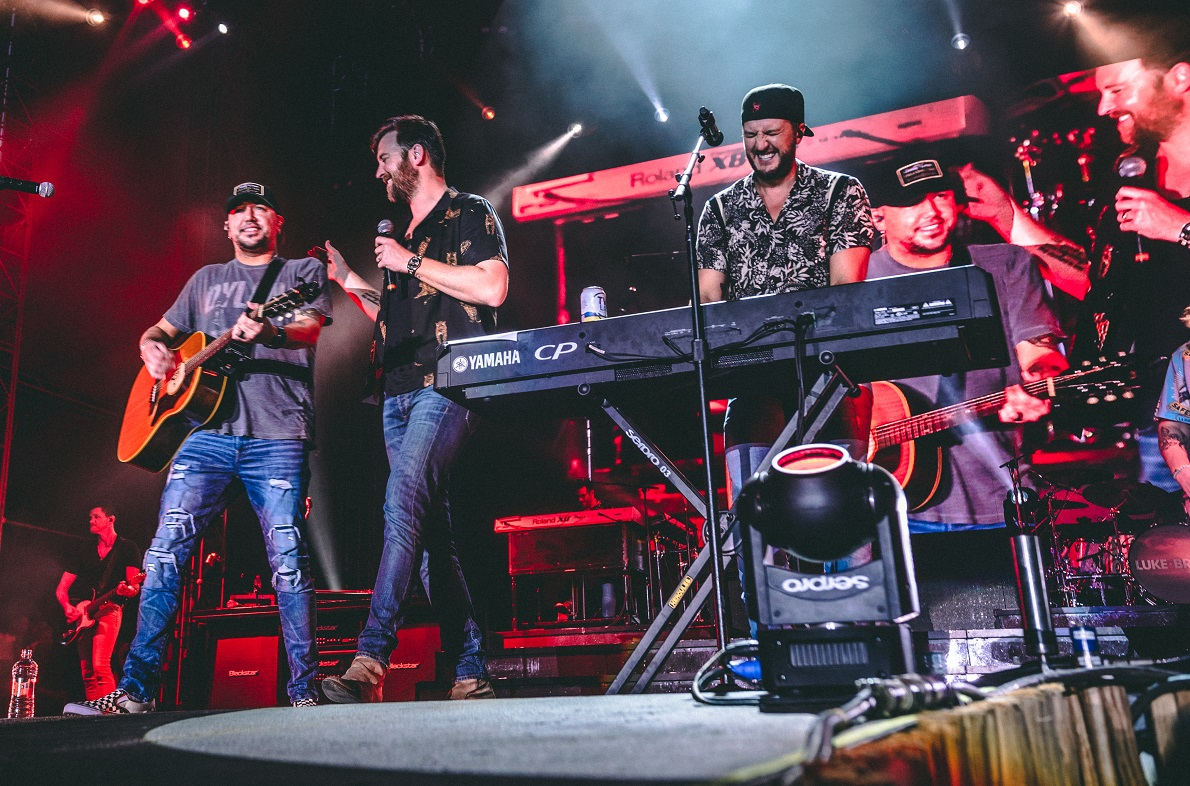Jason Aldean, Charles Kelley, Luke Bryan; Photo by Ethan Helms